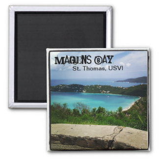 View of Magens Bay, St. Thomas, USVI Square Magnet