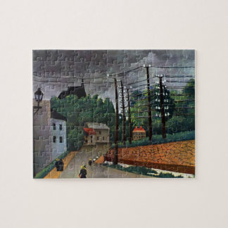 View of Malakoff by Henri Rousseau, Vintage Art Jigsaw Puzzle