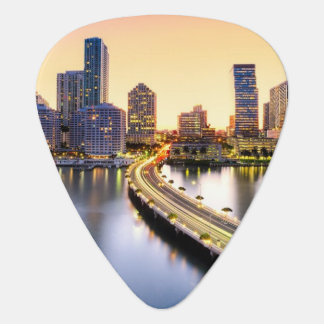 View of Mandarin Oriental Miami with reflection Guitar Pick