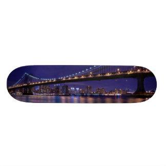 View of Manhattan bridge at night Skate Board Decks