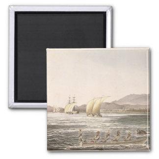 View of Manila, Philippines, 1826 Square Magnet