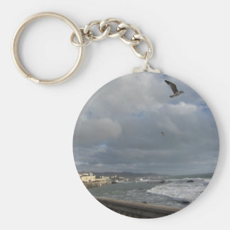 View of Mascagni terrace in a cloudy day Keychain