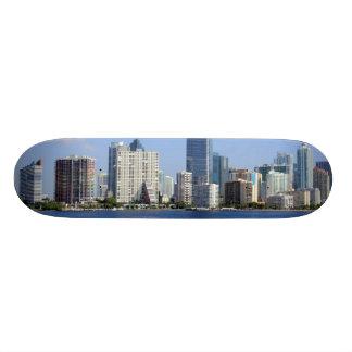 View of Miami Skyline Skate Deck