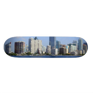 View of Miami Skyline Custom Skateboard