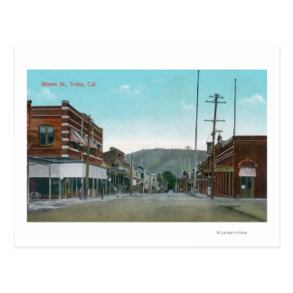 View of Miners StreetYreka, CA Postcard