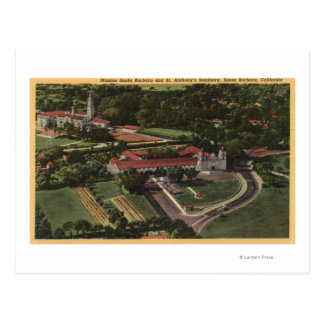 View of Mission & St. Anthony's Seminary Postcard