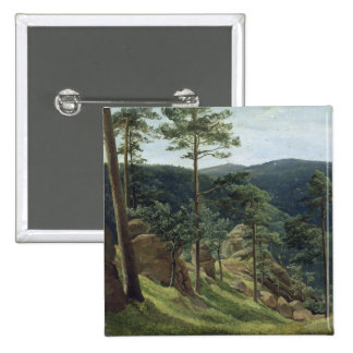 View of Mount Brocken, 1829 2 Inch Square Button