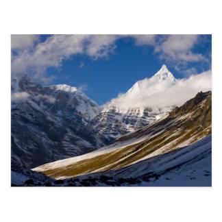 View of Mount Jichu Drake, Bhutan. Postcard