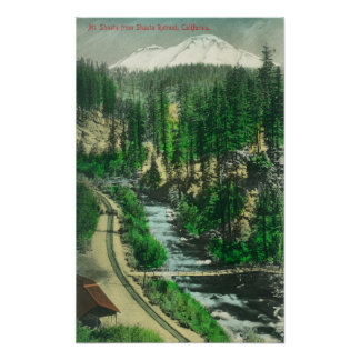 View of Mt. Shasta from Shasta Retreat Poster