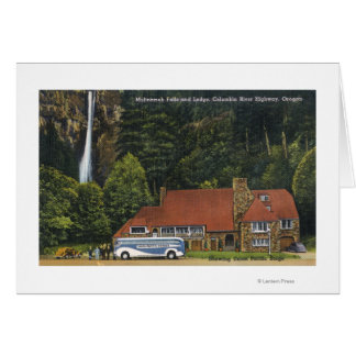View of Multnomah Falls Lodge Card