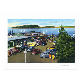 View of Municipal Pier Postcard