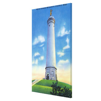 View of Myles Standish Monument Canvas Print