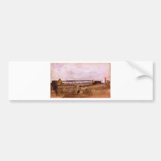 View of Naples by Edgar Degas Bumper Sticker