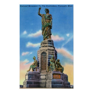 View of Nat'l Monument to US Forefathers Poster