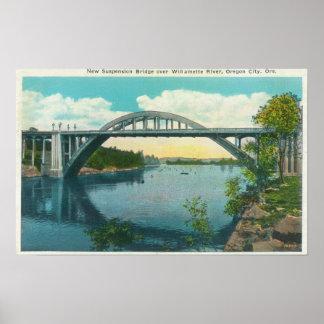View of New Suspension Bridge Poster