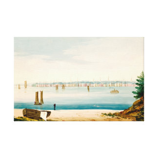 View of New York City from Brooklyn in 1825 Canvas Print