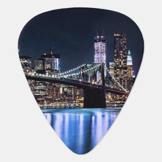 View of New York's Brooklyn bridge reflection Pick