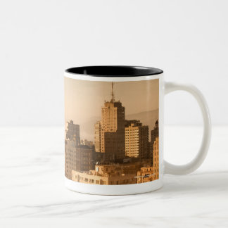 View of Nob Hill in San Francisco, with the fog Two-Tone Coffee Mug