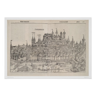 View of Nuremberg from Nuremberg Chronicle (1458) Poster