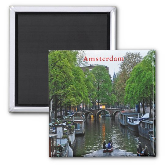 View of one of the Amsterdam canals. Magnet