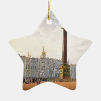 View of Palace Square and Winter Palace Ceramic Star Ornament
