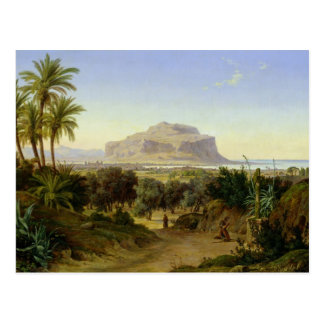 View of Palermo with Mount Pellegrino Postcard