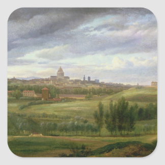 View of Paris from Butte aux Cailles, Gentilly Square Sticker