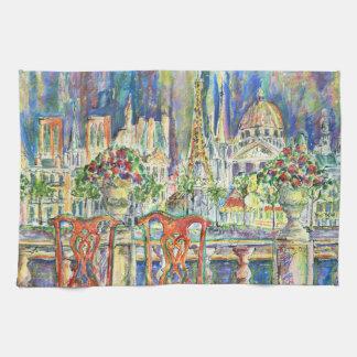 View of Paris Kitchen Towel