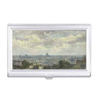 View of Paris van Gogh Business Card Holder