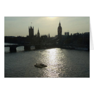 View of Parliament from the London Eye Card