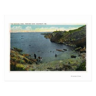 View of Perkins Cove, Swimming Scene Postcard