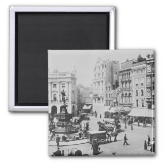 View of Piccadilly Circus, c. 1900 Square Magnet