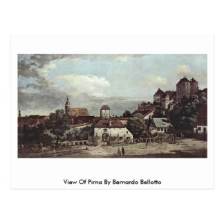 View Of Pirna By Bernardo Bellotto Postcard
