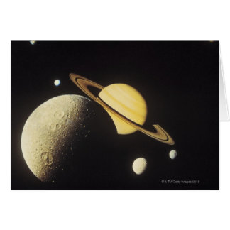 view of planets in the solar system card