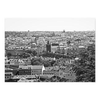 View of Prague. Vltava and Charles Bridge Photo Print