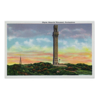 View of Provincetown Pilgrim Memorial Monument Poster