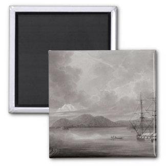 View of Rio de Manila (lithograph) Fridge Magnet