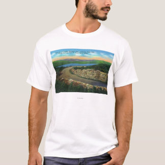View of Rock Cut on Cadillac Mt Viewing Eagle T-Shirt