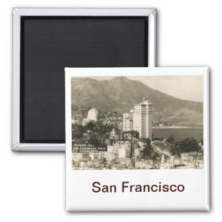 View of San Francisco Vintage Square Magnet