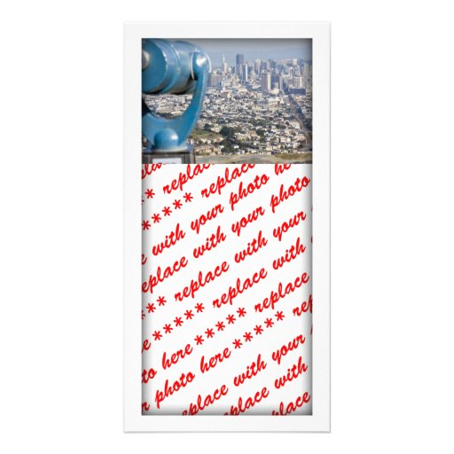 View of San Francsco (Viewer Blurred) Customized Photo Card