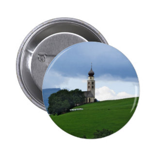 View of San Valentino church 2 Inch Round Button