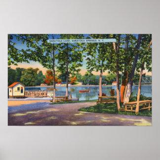 View of Saratoga Lake Poster