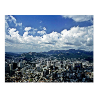 View Of Seoul From Namsan Postcard