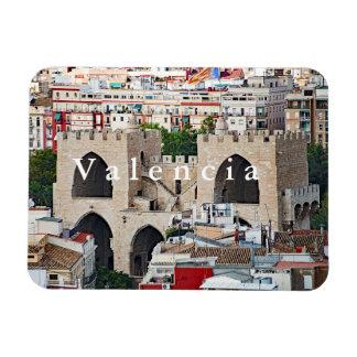 View of Serranos Towers (Porta de Serrans). Magnet
