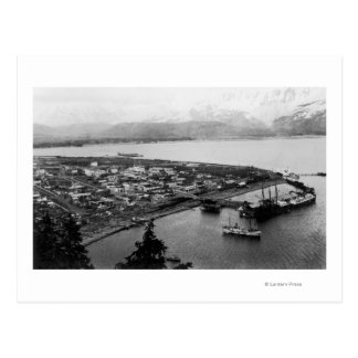 View of Seward, Alaska From Air Photograph Postcard