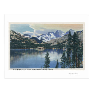 View of Shadow Lake, Sierra Nevada Mountains Postcard