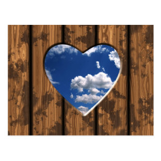 View of Sky through Heart Shaped Hole Postcard
