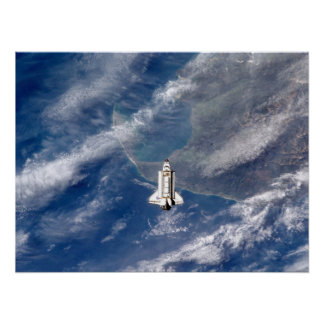 View of Space Shuttle Endeavour from ISS Poster