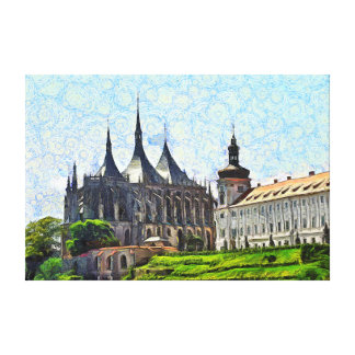 View of St. Barbara's Cathedral in Kutná Hora. Canvas Print