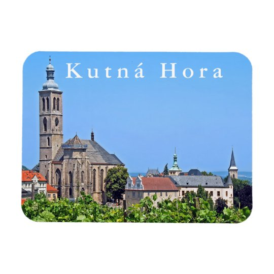 View of St. James in Kutna Hora. Magnet